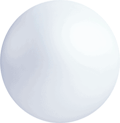 sphere white large