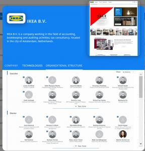 company-search-organizational-structure