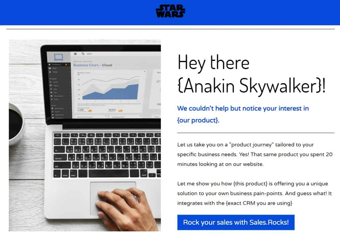 Dynamic Landing Page Hyper Personalization Sales.Rocks