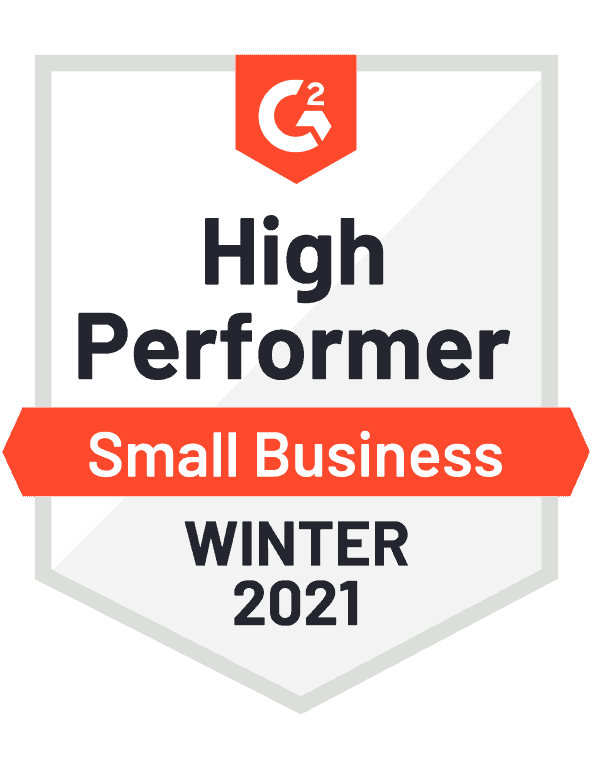G2 badge high performer small business business database