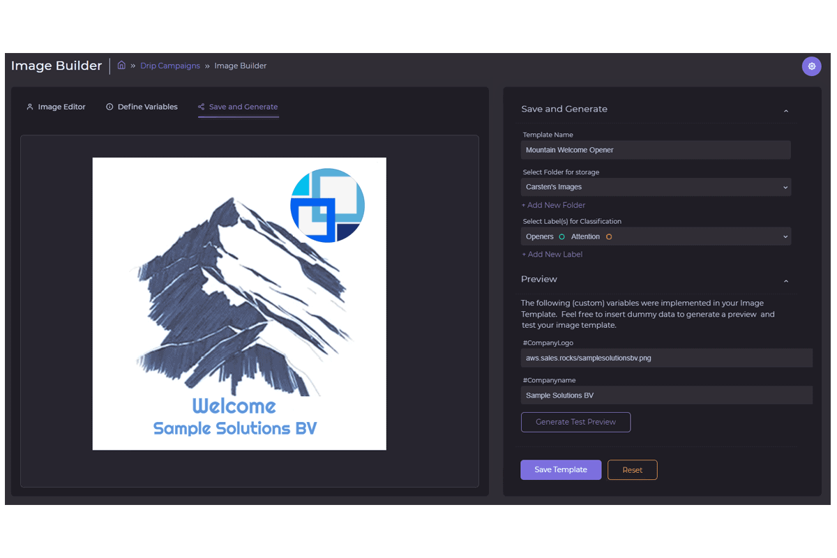 Hyper personalization business logo dynamic logo