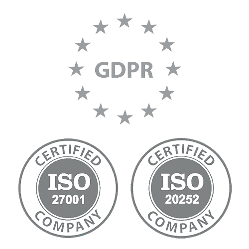 GDPR and ISO badges for Sales.Rocks
