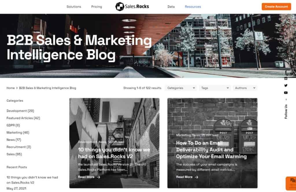 sales rocks blog